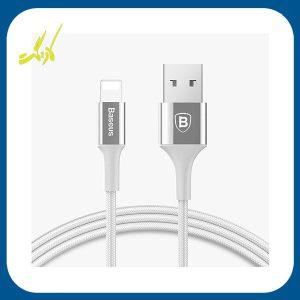 کابل تبدیل USB به لایتنینگ باسئوس مدل Shining به طول 1 متر