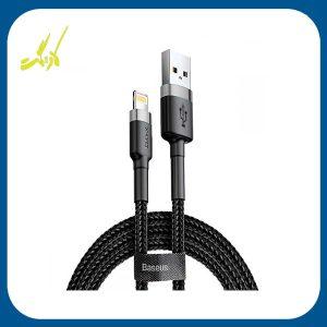 کابل تبدیل USB به لایتنینگ باسئوس مدل kevlar طول 2 متر