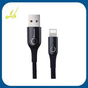 کابل تبدیل USB به لایتنینگ باسئوس مدل C-Shaped به طول 1 متر